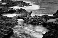 Arch on lanai coast. Hawaii
