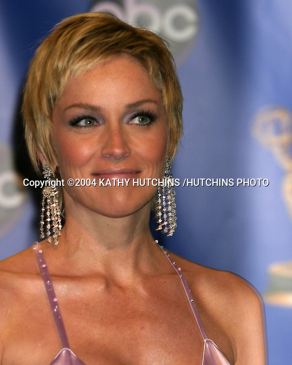 ©2004 KATHY HUTCHINS /HUTCHINS PHOTO.56TH ANNUAL PRIMETIME EMMY'S.SHRINE AUDITORIUM.LOS ANGELES, CA.SEPTEMBER 19, 2004..SHARON STONE