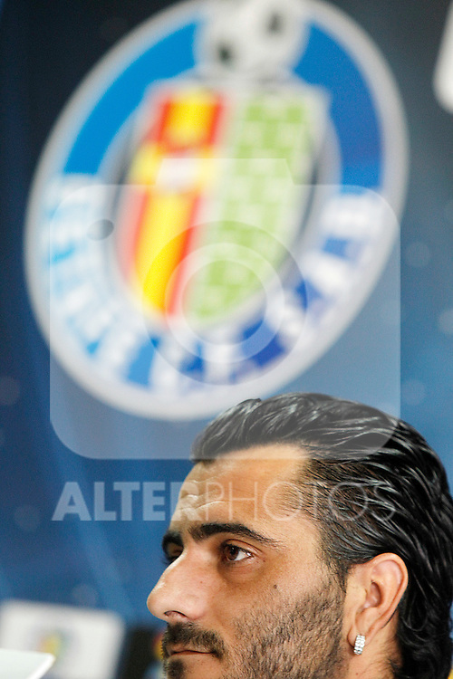 Getafe's new player Daniel Gonzalez Guiza during his official presentation. August 22, 2011. (ALTERPHOTOS/Acero)