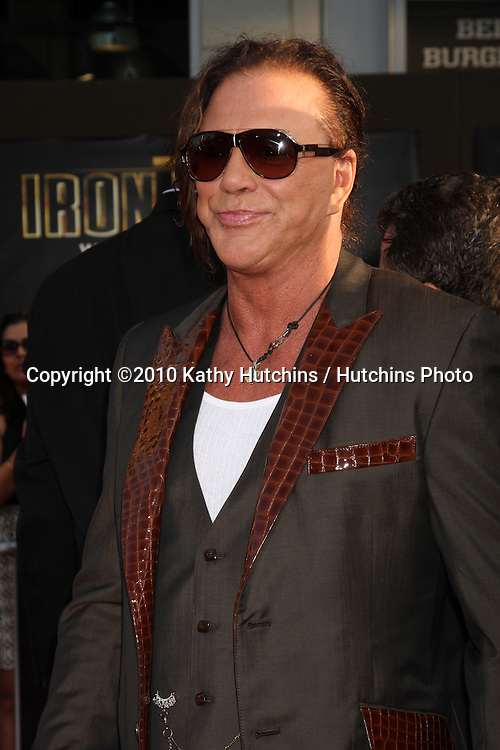"""Mickey Rourke.arrives at  the """"Iron Man 2"""" Premiere.El Capitan Theater.Los Angeles, CA.April 26, 2010.©2010 Kathy Hutchins / Hutchins Photo..."""