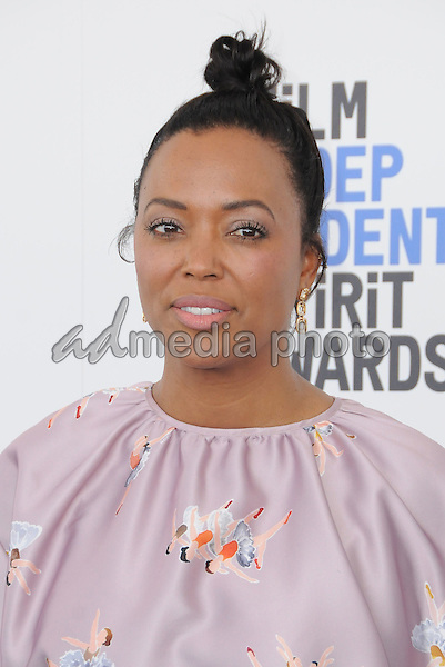 25 February 2017 - Santa Monica, California - Aisha Tyler. 2017 Film Independent Spirit Awards held held at the Santa Monica Pier. Photo Credit: Birdie Thompson/AdMedia