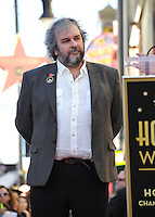 Director Peter Jackson on Hollywood Blvd where he was honored with the 2,538th star on the Hollywood Walk of Fame.<br /> December 8, 2014  Los Angeles, CA<br /> Picture: Paul Smith / Featureflash