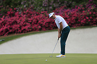 Ian Poulter (ENG) on the 13th green during the 1st round at the The Masters , Augusta National, Augusta, Georgia, USA. 11/04/2019.<br /> Picture Fran Caffrey / Golffile.ie<br /> <br /> All photo usage must carry mandatory copyright credit (&copy; Golffile | Fran Caffrey)