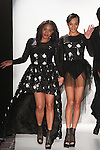 Fashion designer Crystian Amir walks runway with her daughter/model for the close of her I Am Snob Fall Winter 2015 collection runway show, during the Emerging Designers Fall Winter 2015 fashion show for  Fashion Gallery New York Fashion Week Fall 2015.