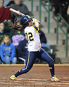 Michigan Wolverines Softball shortstop Sierra Romero (32) at bat during a game against the University of South Florida Bulls on February 8, 2014 at the USF Softball Stadium in Tampa, Florida.  Michigan defeated USF 3-2.  (Copyright Mike Janes Photography)