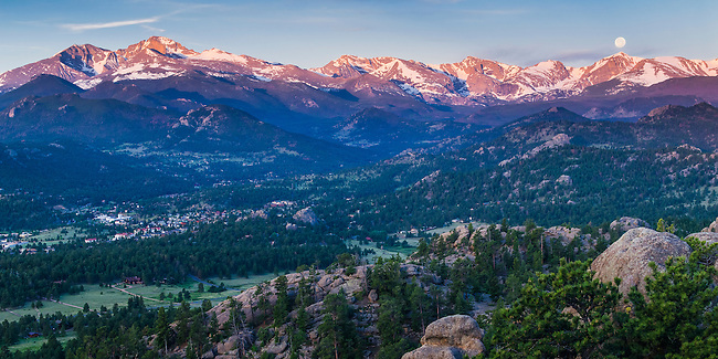 Estes Park, morning, Rocky Mountains, Colorado, USA
