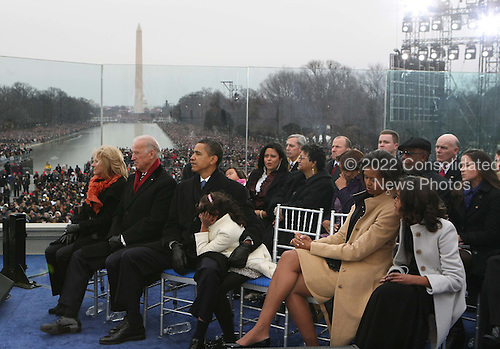 "Washington, DC - January 18, 2009 -- United States President-elect Barack Obama and his wife Michelle at the ""We Are One""  The Obama Inaugural Celebration at the Lincoln Memorial on Sunday, January 18, 2009.  .Credit: Dennis Brack - Pool via CNP"