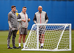 16.08.2019 Rangers training: Steven Gerrard, Tom Culshaw and Gary McAllister
