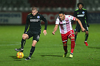 Kyle Wootton of Stevenage and Will Collar of Brighton during Stevenage vs Brighton & Hove Albion Under-21, Checkatrade Trophy Football at the Lamex Stadium on 7th November 2017