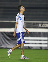 Angel Di Maria of Argentina looks to the sky during training