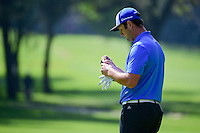 Jon Rahm (ESP) after sining his putt on 2 during round 1 of the World Golf Championships, Mexico, Club De Golf Chapultepec, Mexico City, Mexico. 3/2/2017.<br /> Picture: Golffile | Ken Murray<br /> <br /> <br /> All photo usage must carry mandatory copyright credit (&copy; Golffile | Ken Murray)
