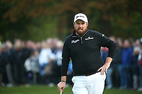 Shane Lowry (IRL) considers would could have been as he finishes T2 during the Final Round of the British Masters 2015 supported by SkySports played on the Marquess Course at Woburn Golf Club, Little Brickhill, Milton Keynes, England.  11/10/2015. Picture: Golffile | David Lloyd<br /> <br /> All photos usage must carry mandatory copyright credit (&copy; Golffile | David Lloyd)