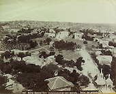 City of Beirut, Lebanon, c. 1900. See a sprawling city with western-style buildings and some monuments.