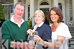 Mary McMonagle welcomes back Sean and Brona De Paor to the Malton Hotel 25 years after they shared their honeymoon in the hotel the trip will be featured on a TG4 documentary Mi?na Meala directed by Evan Chamberlain (left)   Copyright Kerry's Eye 2008