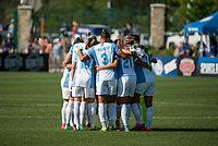 Kansas City, MO - Sunday May 07, 2017: Toni Pressley, Monica Hickmann Alves, Maddy Evans during a regular season National Women's Soccer League (NWSL) match between FC Kansas City and the Orlando Pride at Children's Mercy Victory Field.