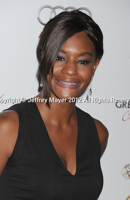 WEST HOLLYWOOD, CA - SEPTEMBER 21: Sufe Bradshaw attends the 64th Primetime Emmy Awards Performers Nominee reception held at Spectra by Wolfgang Puck at the Pacific Design Center on September 21, 2012 in West Hollywood, California.
