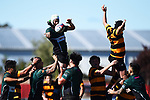 NELSON, NEW ZEALAND - APRIL 13: Division 2 Rugby - Huia v Collingwood at Sport Park, Motueka. 13 April 2019 in Motueka, New Zealand. (Photo by Chris Symes/Shuttersport Limited)