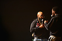 MIAMI, FL - DECEMBER 15: Comedian Chico Bean and DC Young Fly perform on stage during the 85 South improvs roasting and freestyles comedy show at James L. Knight Center on December 15, 2019 in Miami, Florida.  ( Photo by Johnny Louis / jlnphotography.com )