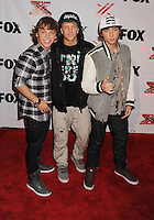 LOS ANGELES, CA - DECEMBER 06: Emblem3 arrives at the 'The X Factor' Viewing Party Sponsored By Sony X Headphones at Mixology101 & Planet Dailies on December 6, 2012 in Los Angeles, California.PAP1212JP346.PAP1212JP346.PAP1212JP346.