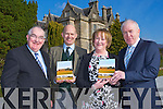 Senator Paul Coughlan, Dominick Chilcott British Ambassador to Ireland  and Jimmy Deenihan with Jame O'Hea-O'Keeffe at the launch of her book Voices from the Great Houses of Cork and Kerry in Muckross House on Saturday ..