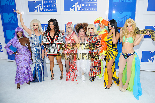 28 August 2016 - New York, New York - RuPaul's Drag Race Cast.  2016 MTV Video Music Awards at Madison Square Garden. <br /> CAP/ADM/MSA<br /> &copy;MSA/ADM/Capital Pictures