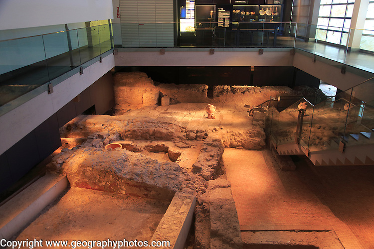 Archaeology museum interior, city of  Valencia, Spain