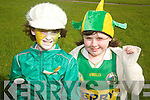 PROUD TO BE IRISH: Castlegregory girls Erin ODriscoll and Mary Kate Heasman had a great time dressed up in Irish colours on St. Patricks Day in the village. .