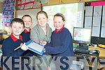 NEW SCHOOL TECHNOLOGY: Staff and pupils from Listellick National School are delighted with their new state of the art white board. From l-r: Adam McEllistrim, Joseph Hayes, Anna Flynn (Teacher) and Atlanta Moriarty.