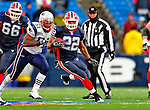 28 December 2008: Buffalo Bills' running back Fred Jackson in action against the New England Patriots at Ralph Wilson Stadium in Orchard Park, NY. The Patriots kept their playoff hopes alive defeating the Bills 13-0 in their 16th win against Buffalo of their past 17 meetings. ***** Editorial Use Only ******..Mandatory Photo Credit: Ed Wolfstein Photo