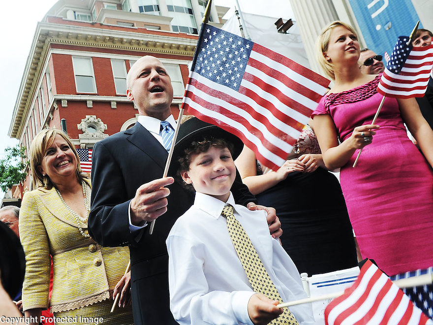 Mayor Mitch Landrieu is inaugurated as the city's first white mayor since his father was mayor 30 years ago, 2010.
