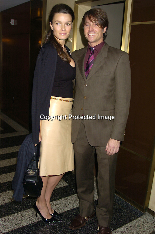 "Larisa Bond and fiancee Robert Watman ..at the 18th Annual Citymeals-on-Wheels ""Power Lunch for Women"" on November 18, 2004 at The Rainbow Room. ..Photo by Robin Platzer, Twin Images.."