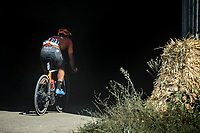 Robin Carpenter (USA/Rally Cycling) trying to escape solo<br /> <br /> Antwerp Port Epic 2020 <br /> One Day Race: Antwerp to Antwerp 183km; of which 28km are cobbles and 35km is gravel/off-road<br /> Bingoal Cycling Cup 2020