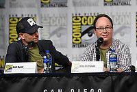 SAN DIEGO COMIC-CON© 2019: L-R: 20th Century Fox Television and Hulu's Solar Opposites Executive Producers Josh Bycel and Mike McMahan during the SOLAR OPPOSITES panel on Friday, July 19 at the SAN DIEGO COMIC-CON© 2019. CR: Frank Micelotta/20th Century Fox Television