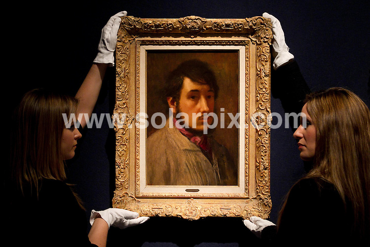 **ALL ROUND PICTURES FROM SOLARPIX.COM**                                             **  UK NEWSPAPER PUBLICATION PERMITTED ONLY AFTER 7 DAYS FROM THIS CAPTION DATE**. ** NO PUBLICATION IN AUSTRALIA, BELGIUM, FRANCE, GERMANY, ITALY, SCANDINAVIA AND USA**                                                                                  Caption: Christie's auctioneers in London unveil their Impressionist and Modern Art and The Art of the Surreal Evening Auctions - including the art from The Collection of Elizabeth Taylor.Hightlights include Vue de l'asile et de la Chapelle de Saint-Rémy, 1889, by Vincent Van Gogh (1853-1890) from a group of 38 pictures offered from The Collection of Elizabeth Taylor, marking the final portion of the landmark series of sales from the collection of this iconic actress..This pic.Liz taylor Art collection                                                            .JOB REF:14414       SFE       DATE:  3.02.2012                                                          **MUST CREDIT SOLARPIX.COM OR DOUBLE FEE WILL BE CHARGED**                                                                      **MUST AGREE FEE BEFORE ONLINE USAGE**                               **CALL US ON: +34 952 811 768 or LOW RATE FROM UK 0844 617 7637**