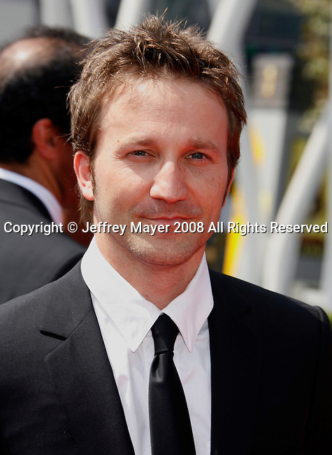LOS ANGELES, CA. - September 13: Actor Breckin Meyer arrives at the 60th Primetime Creative Arts Emmy Awards held at Nokia Theatre on September 13, 2008 in Los Angeles, California.