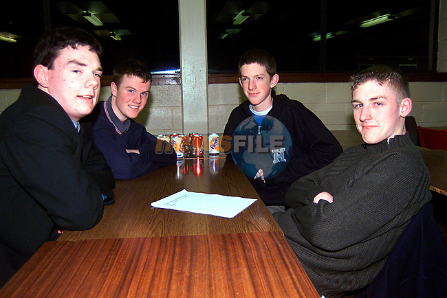 Conor McDermott, John Tumitty,Ronan Heffernan,and Barry McGuinness at the LMFM Quiz in Dundalk...Pic Tony Campbell/Newsfile
