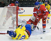 Oldrich Horak (Czech Republic - 4), Filip Novotny (Czech Republic - 1), David Musil (Czech Republic - 6), Magnus Svensson Pääjärvi (Sweden - 20) - Sweden defeated the Czech Republic 4-2 at the Urban Plains Center in Fargo, North Dakota, on Saturday, April 18, 2009, in their final match of the 2009 World Under 18 Championship.