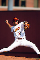 Rik Currier of the USC Trojans during a NCAA baseball game at Dedeaux Field circa 1999 in Los Angeles, California. (Larry Goren/Four Seam Images)
