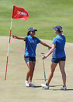 Otago celebrate a win. Day One of the Toro Interprovincial Women's Championship, Sherwood Golf Club, Wjangarei,  New Zealand. Monday 4 December 2017. Photo: Simon Watts/www.bwmedia.co.nz