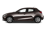 Car Driver side profile view of a 2015 Mazda Mazda2 Pulse Edition 5 Door Hatchback 2WD Side View