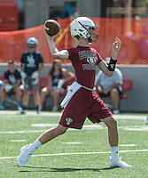 NWA Democrat-Gazette/ANTHONY REYES &bull; @NWATONYR<br /> Jack Lindsey Springdale quarterback, throws against Springdale Har-Ber Friday, July 10, 2015 during the Southwest Elite 7 on 7 tournament at Jarrell Williams Bulldog Stadium in Springdale.