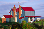 ATBJF3 Colourful corrugated iron house, Bawdsey Suffolk England