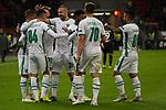 29.11.2018, BayArena, Leverkusen, Europaleque, Vorrunde, GER, UEFA EL, Bayer 04 Leverkusen (GER) vs. Ludogorez Rasgrad (BUL),<br />  <br /> DFL regulations prohibit any use of photographs as image sequences and/or quasi-video<br /> <br /> im Bild / picture shows: <br /> die bulgaren bejubeln ihr Tor <br /> <br /> Foto &copy; nordphoto / Meuter<br /> <br /> <br /> <br /> Foto &copy; nordphoto / Meuter
