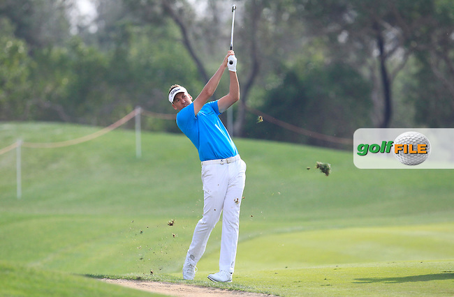 Ian Poulter (ENG) on the 13th fairway during Round 1 of the Abu Dhabi HSBC Championship on Thursday 19th January 2017.<br /> Picture:  Thos Caffrey / Golffile<br /> <br /> All photo usage must carry mandatory copyright credit     (&copy; Golffile | Thos Caffrey)