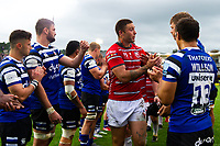 Matt Banahan of Gloucester Rugby after the match. Gallagher Premiership match, between Bath Rugby and Gloucester Rugby on September 8, 2018 at the Recreation Ground in Bath, England. Photo by: Patrick Khachfe / Onside Images