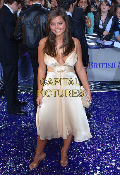 JENNA-LOUISE COLEMAN.Arrivals at The British Soap Awards, .BBC Television Centre, Wood Lane, .London, England, May 20th 2006..full length jenna louise gold dress bag shoes.Ref: FIN.www.capitalpictures.com.sales@capitalpictures.com.©Steve Finn/Capital Pictures.