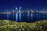 San Diego at night from Coronado Island