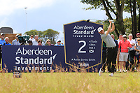 Bernd Wiesberger (AUT) on the 2nd tee during Round 1 of the Aberdeen Standard Investments Scottish Open 2019 at The Renaissance Club, North Berwick, Scotland on Thursday 11th July 2019.<br /> Picture:  Thos Caffrey / Golffile<br /> <br /> All photos usage must carry mandatory copyright credit (© Golffile | Thos Caffrey)