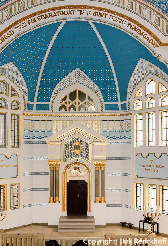Synagoge in der Holocaust Erinnerungsstätte Holokauszt Eblékközpont, Budapest, Ungarn
