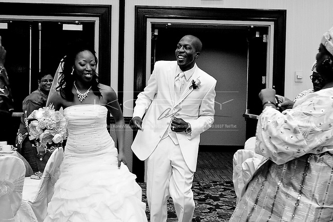 Wedding photographs of Toke Mayaki and BJ Adeyemo at The Resurrection House for All Nations and the Sheraton Hotel Atlanta